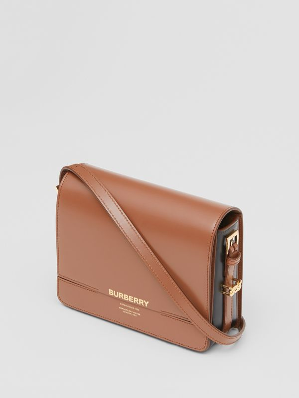 Small Two-tone Leather Grace Bag in Malt Brown/black - Women | Burberry United States - cell image 3