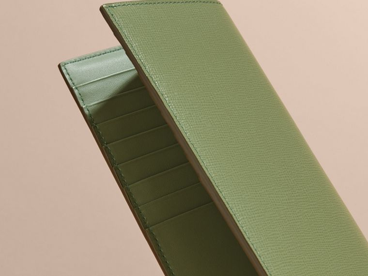 London Leather Continental Wallet in Antique Green - cell image 1