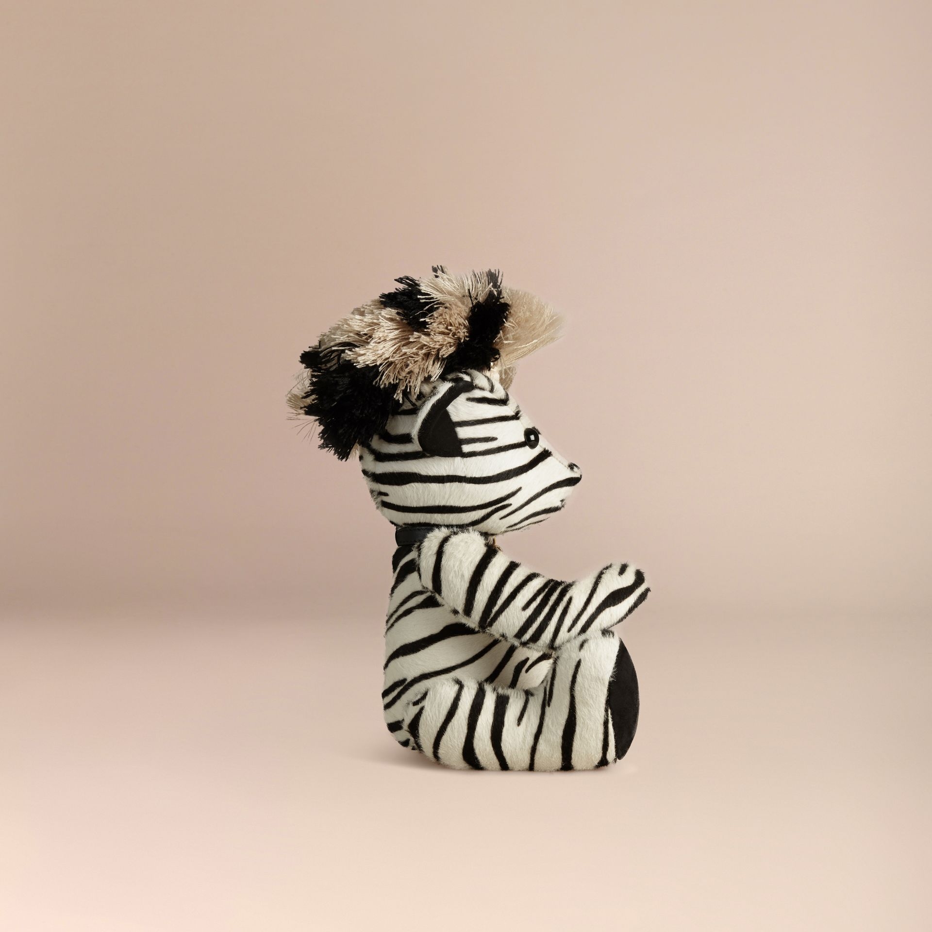 Natural Thomas Bear in Zebra Calfskin - gallery image 3