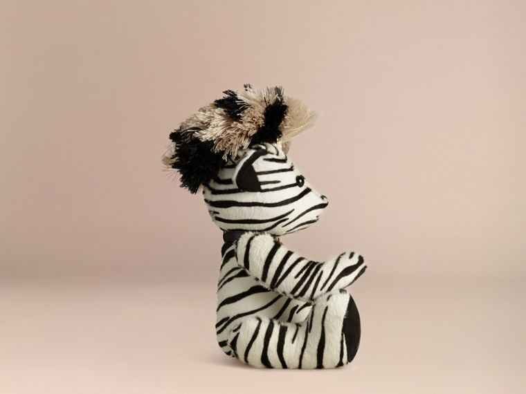 Natural Thomas Bear in Zebra Calfskin - cell image 2