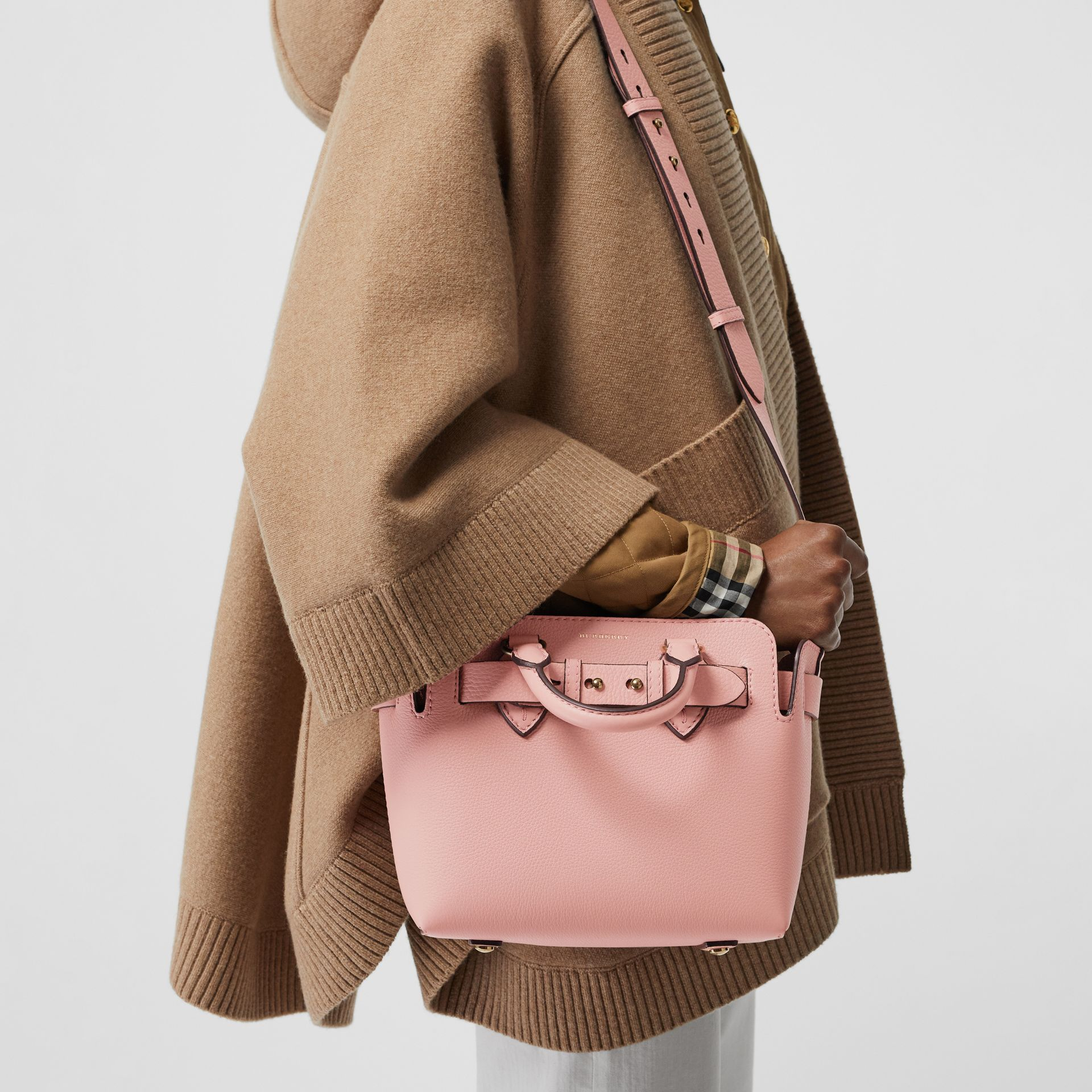 The Mini Leather Belt Bag in Ash Rose - Women | Burberry - gallery image 3