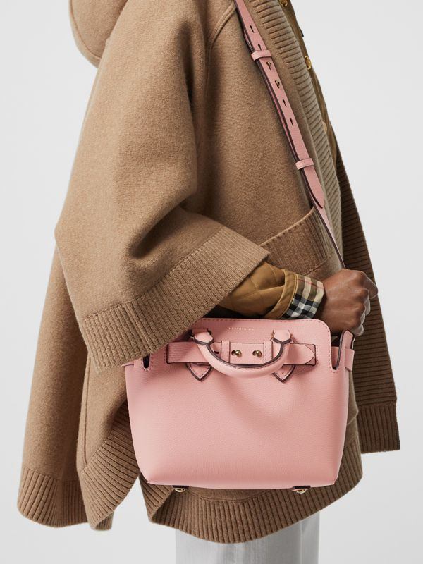 The Mini Leather Belt Bag in Ash Rose - Women | Burberry Australia - cell image 3