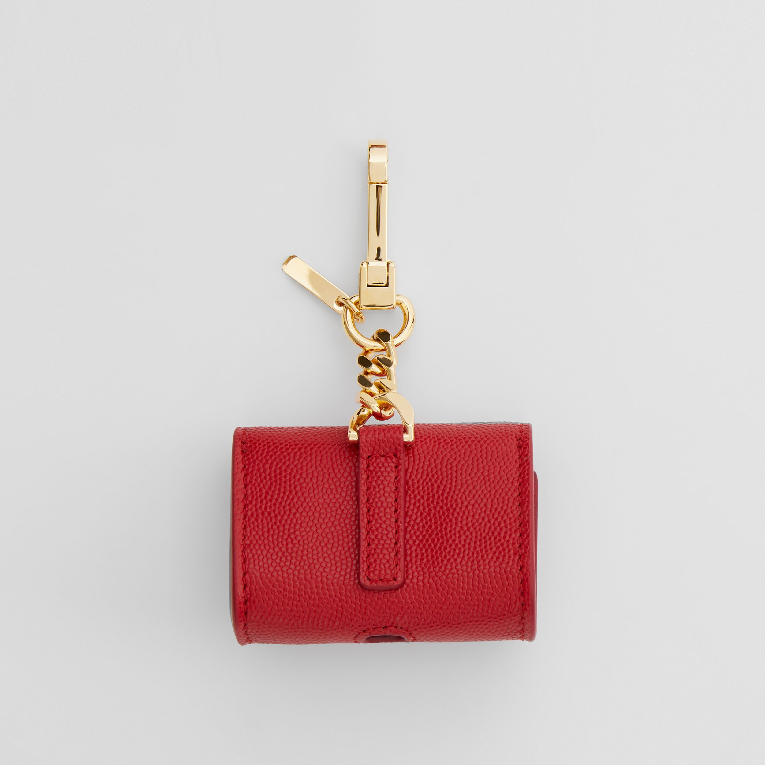 Grainy Leather AirPods Pro Case in Bright Red | Burberry - 4