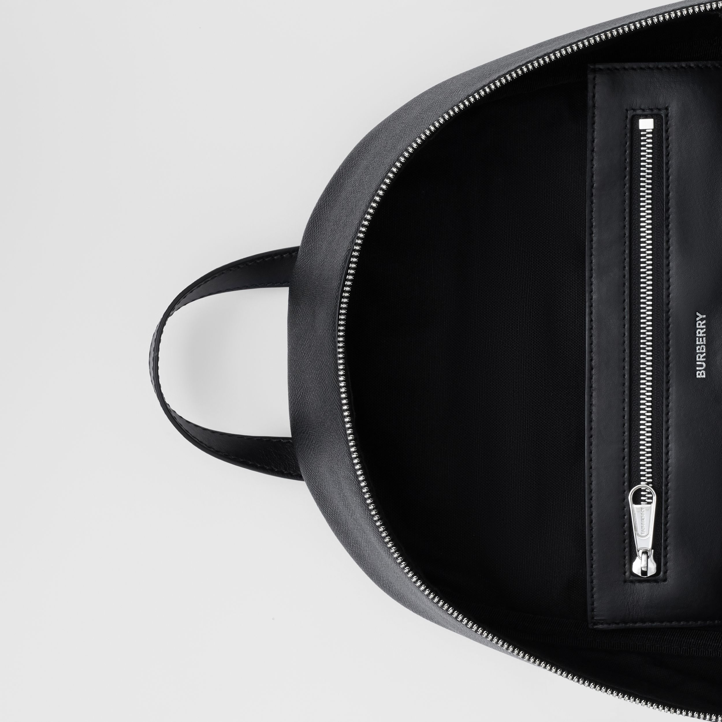 Grainy Leather Backpack in Black - Men | Burberry - 4