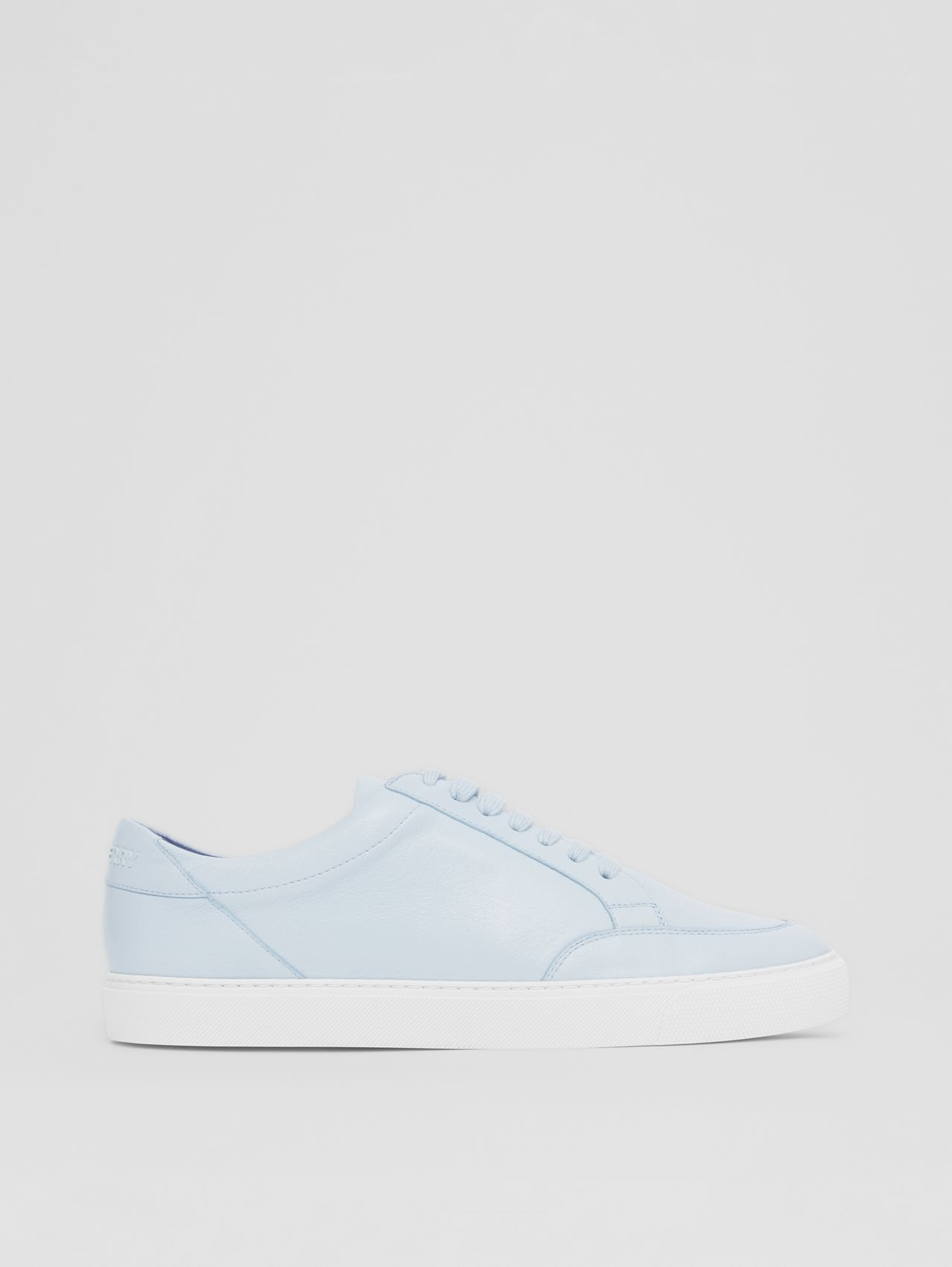 Logo Detail Lambskin Sneakers in Pale Blue