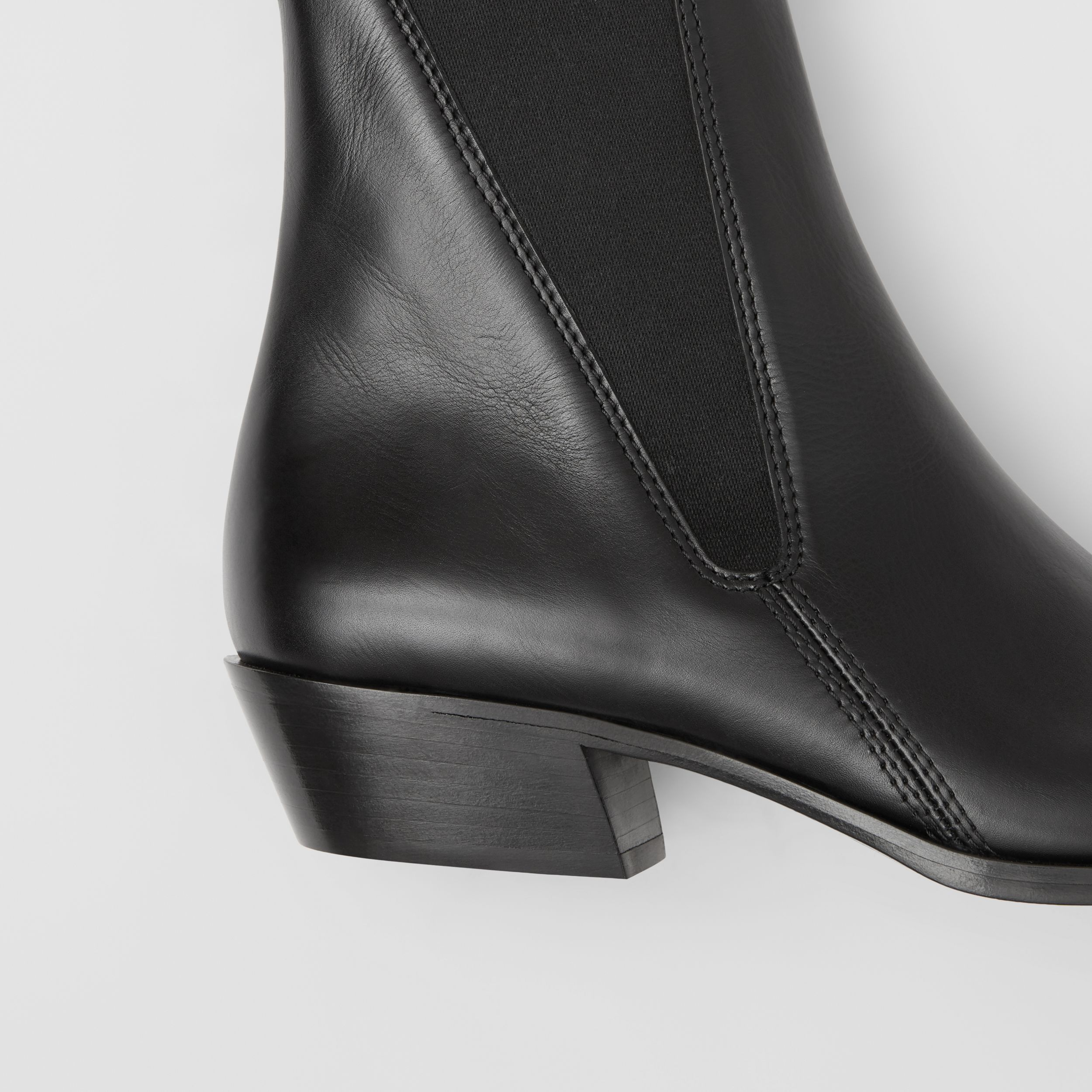 Leather Point-toe Chelsea Boots in Black - Women | Burberry United Kingdom - 2