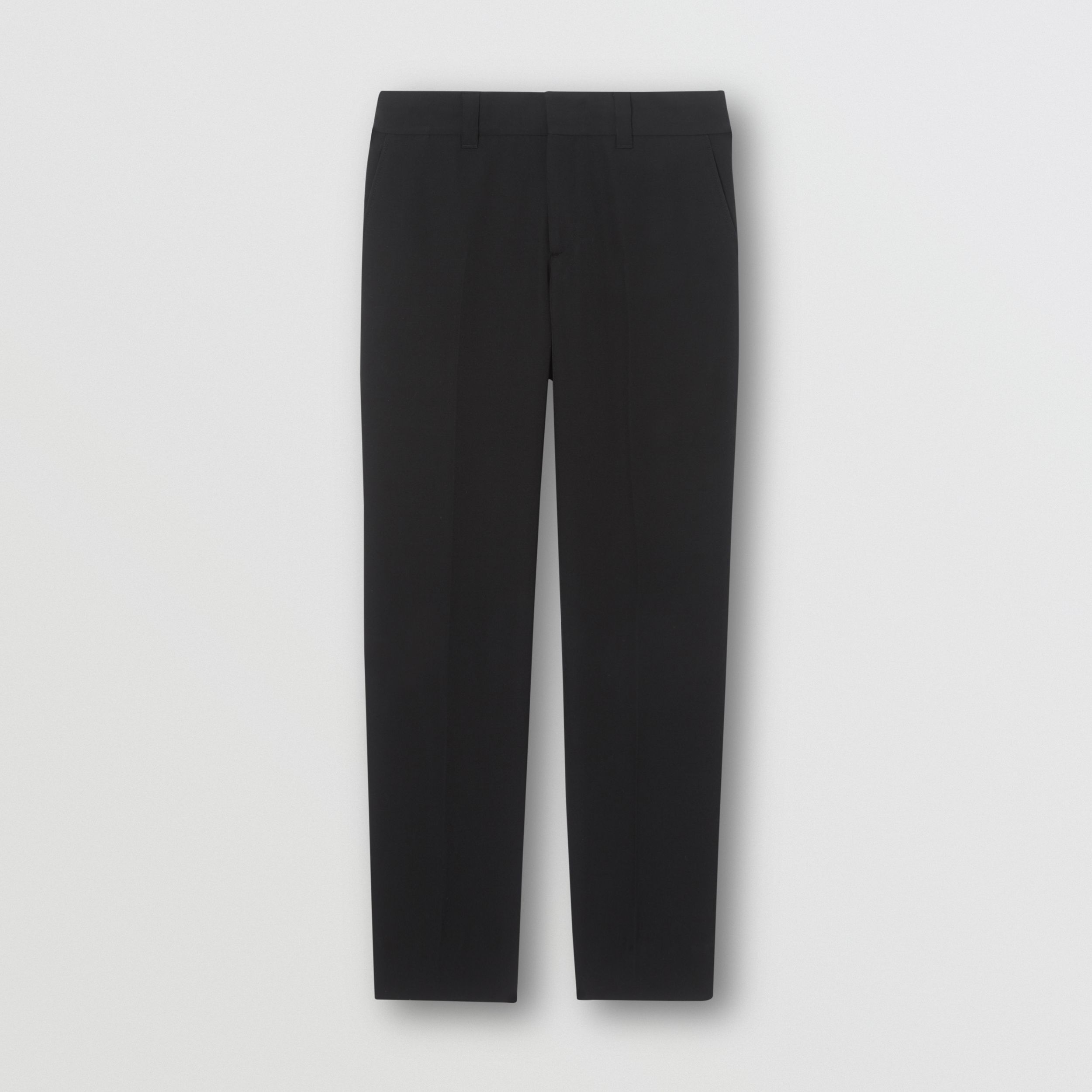 Lambskin Side Stripe Wool Tailored Trousers in Black | Burberry United States - 4