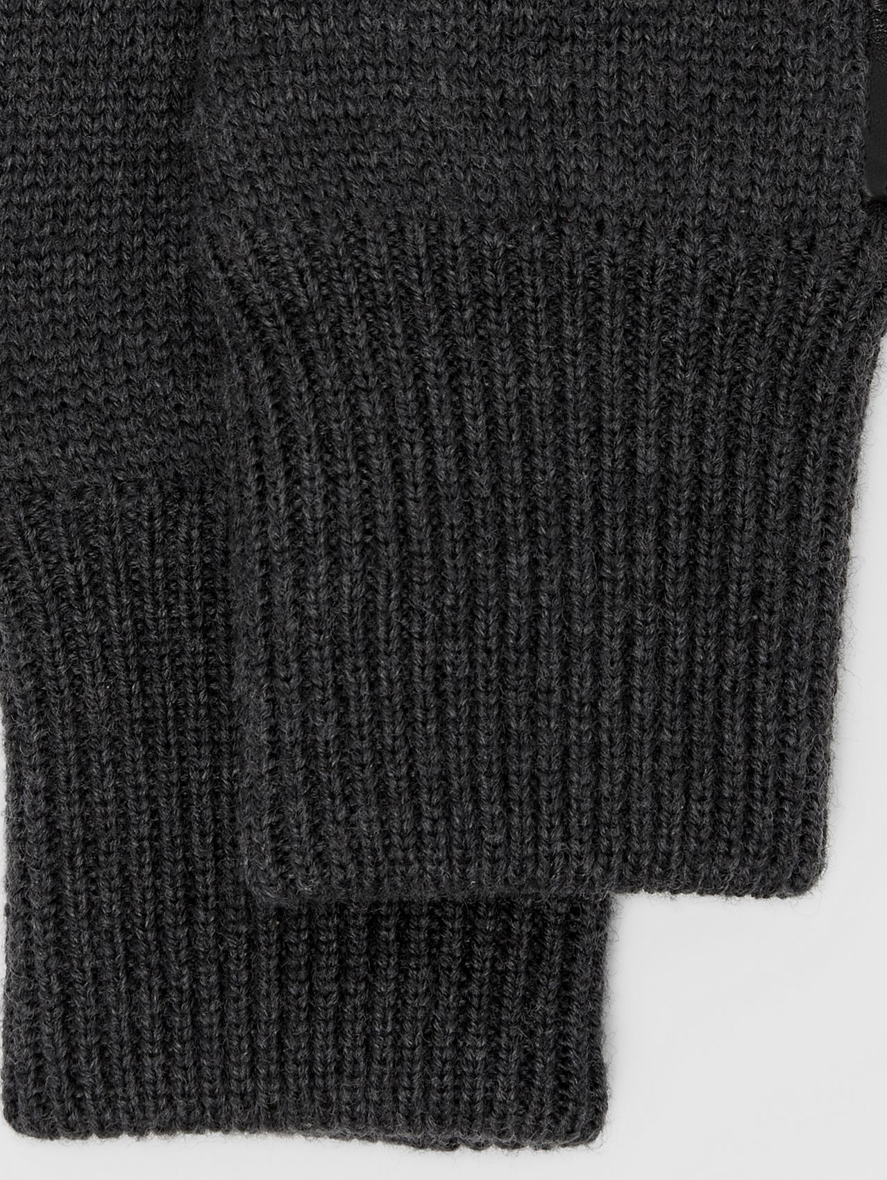 Cashmere-lined Merino Wool and Lambskin Gloves in Black