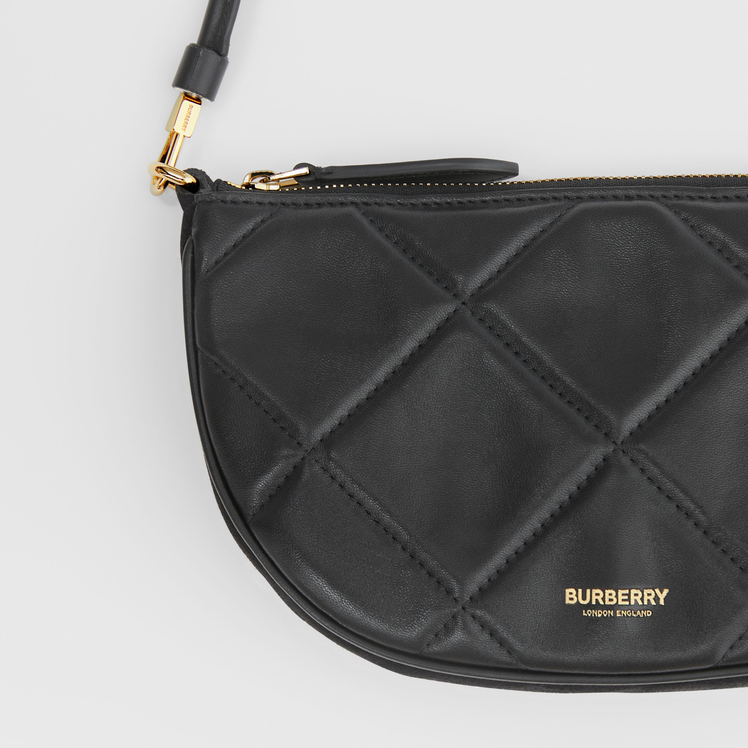 Quilted Lambskin Olympia Pouch in Black - Women | Burberry - 2