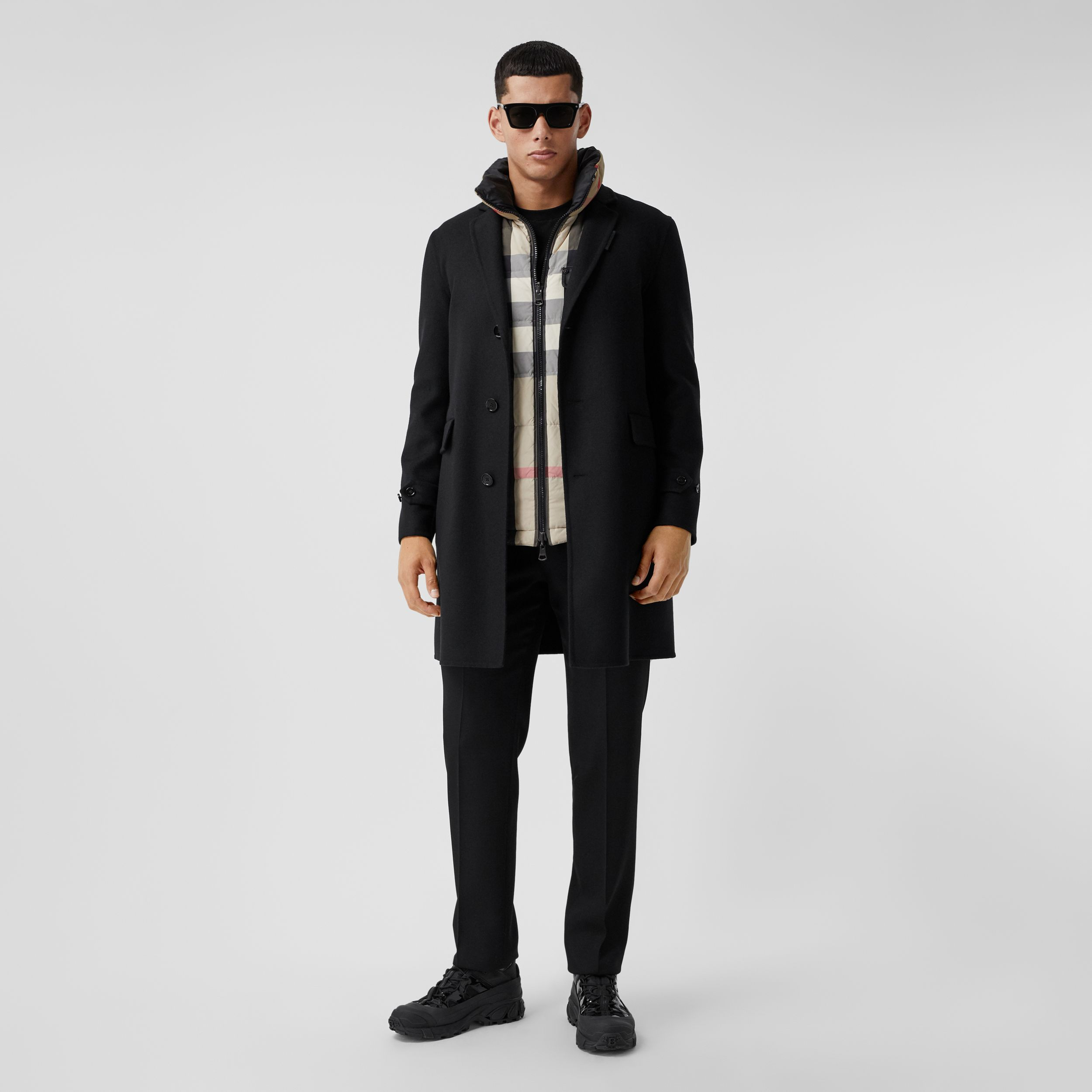 Wool Cashmere Lab Coat in Black - Men | Burberry - 1