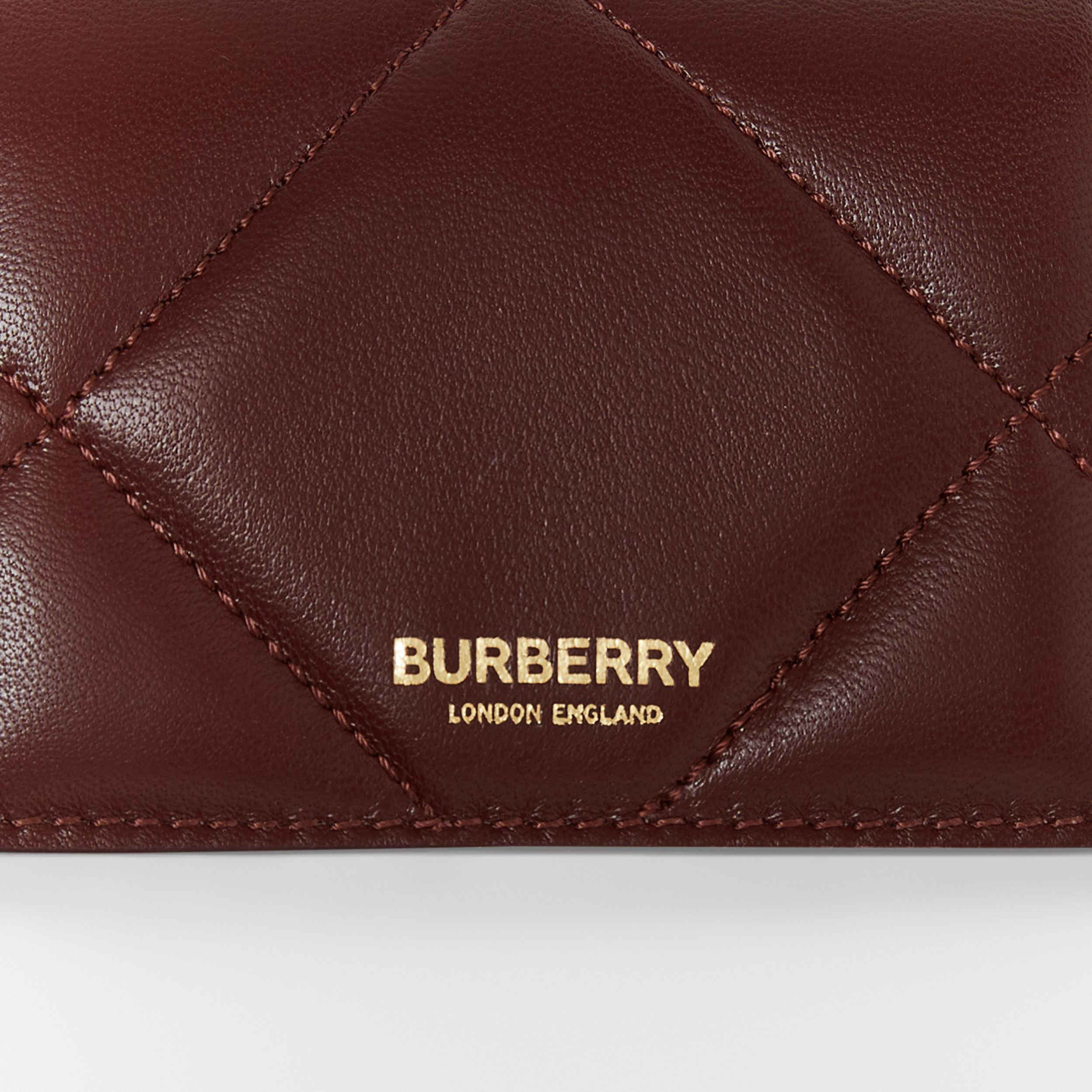 Quilted Lambskin Card Case with Detachable Strap in Garnet - Women | Burberry - 2