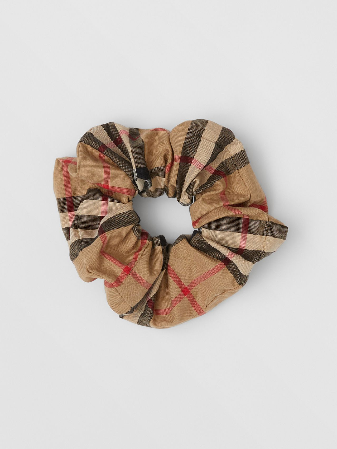 Vintage Check Cotton Scrunchie in Archive Beige