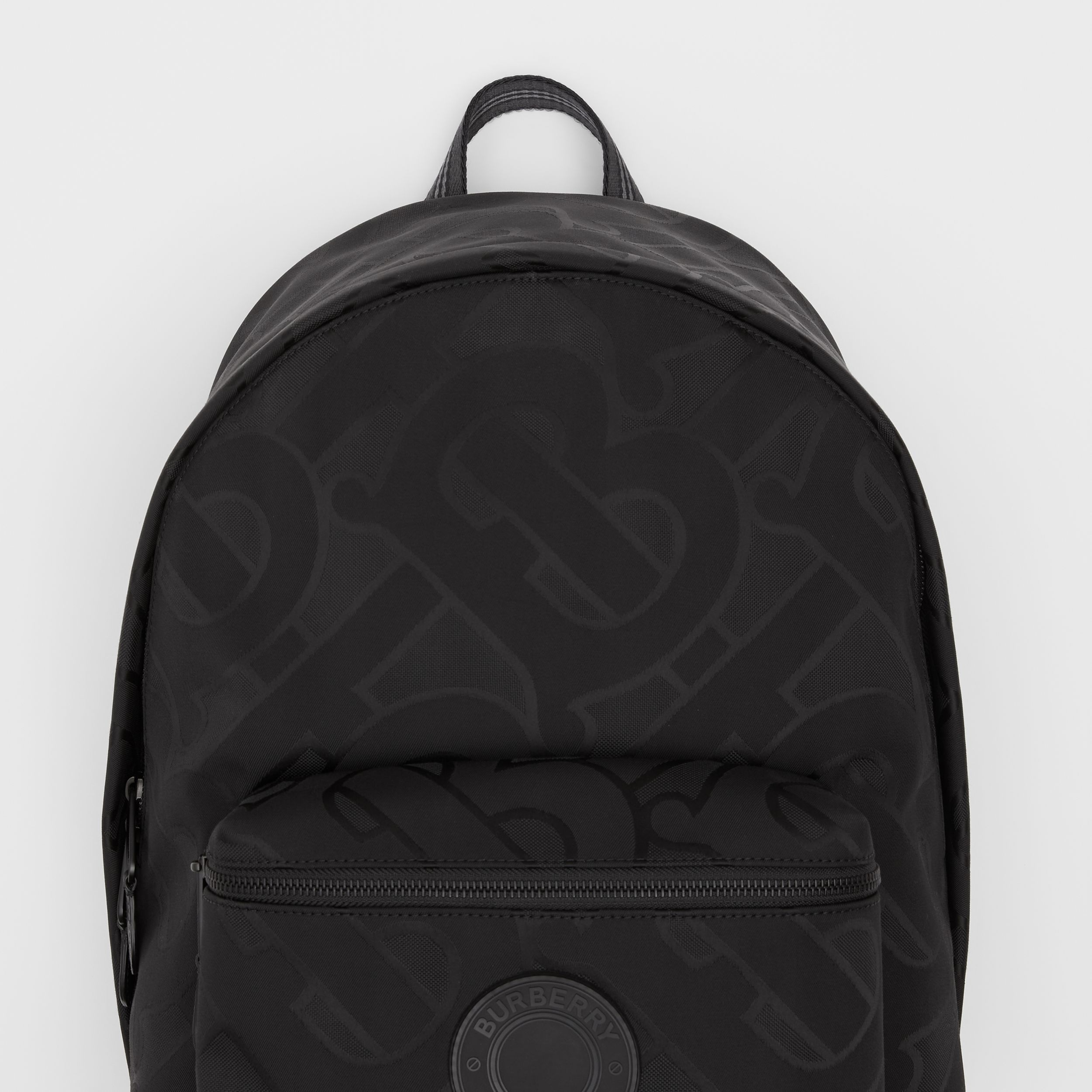 Monogram Recycled Polyester Jacquard Backpack in Black - Men | Burberry Singapore - 2