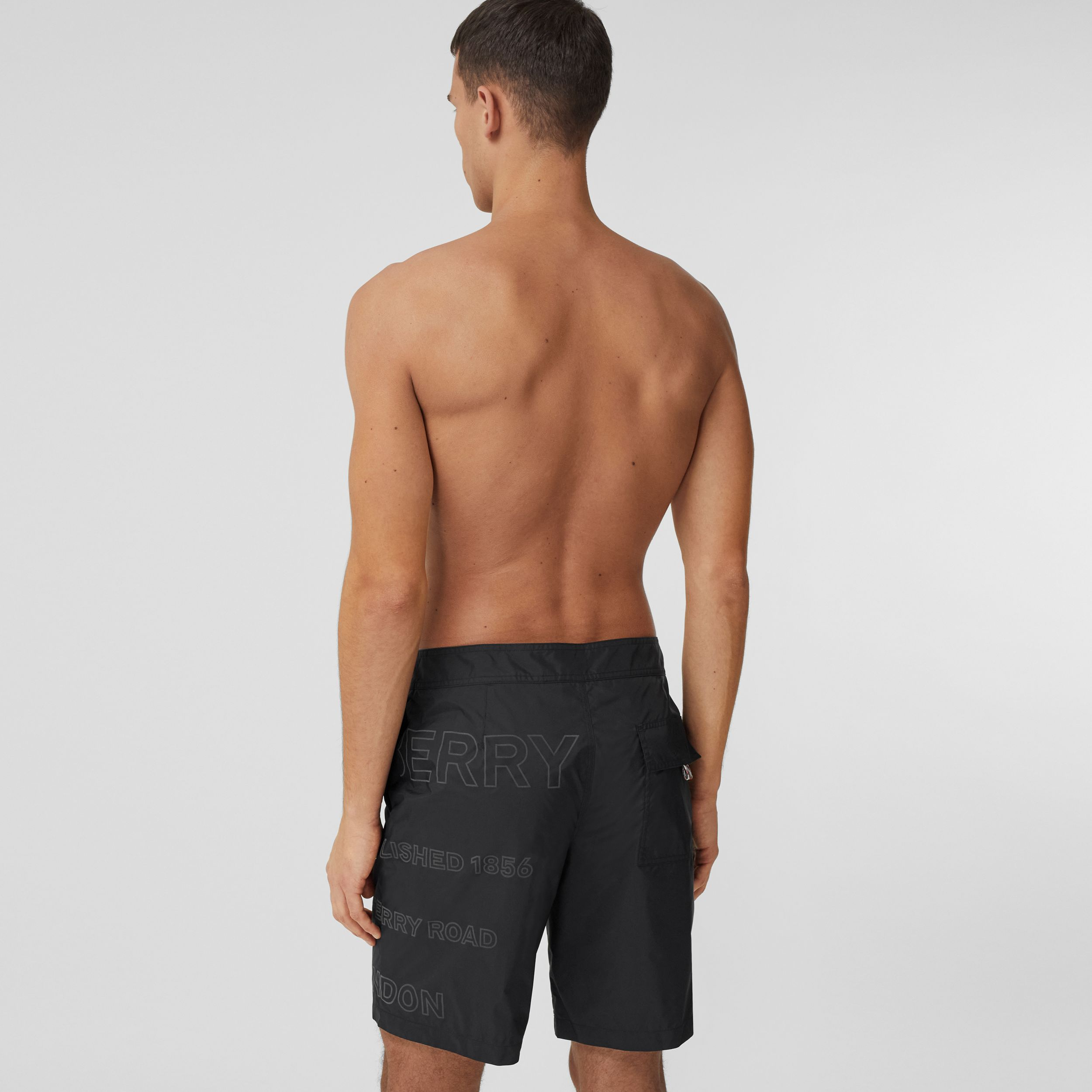 Horseferry Print Swim Shorts in Black - Men | Burberry - 2