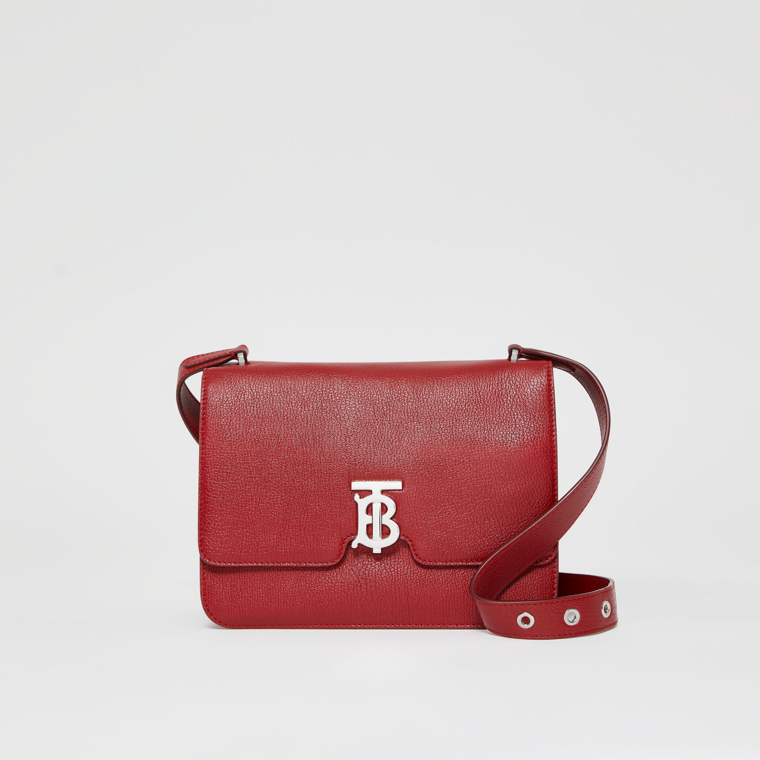 Borsa Alice media in pelle a grana (Carminio Scuro) - Donna | Burberry - 1