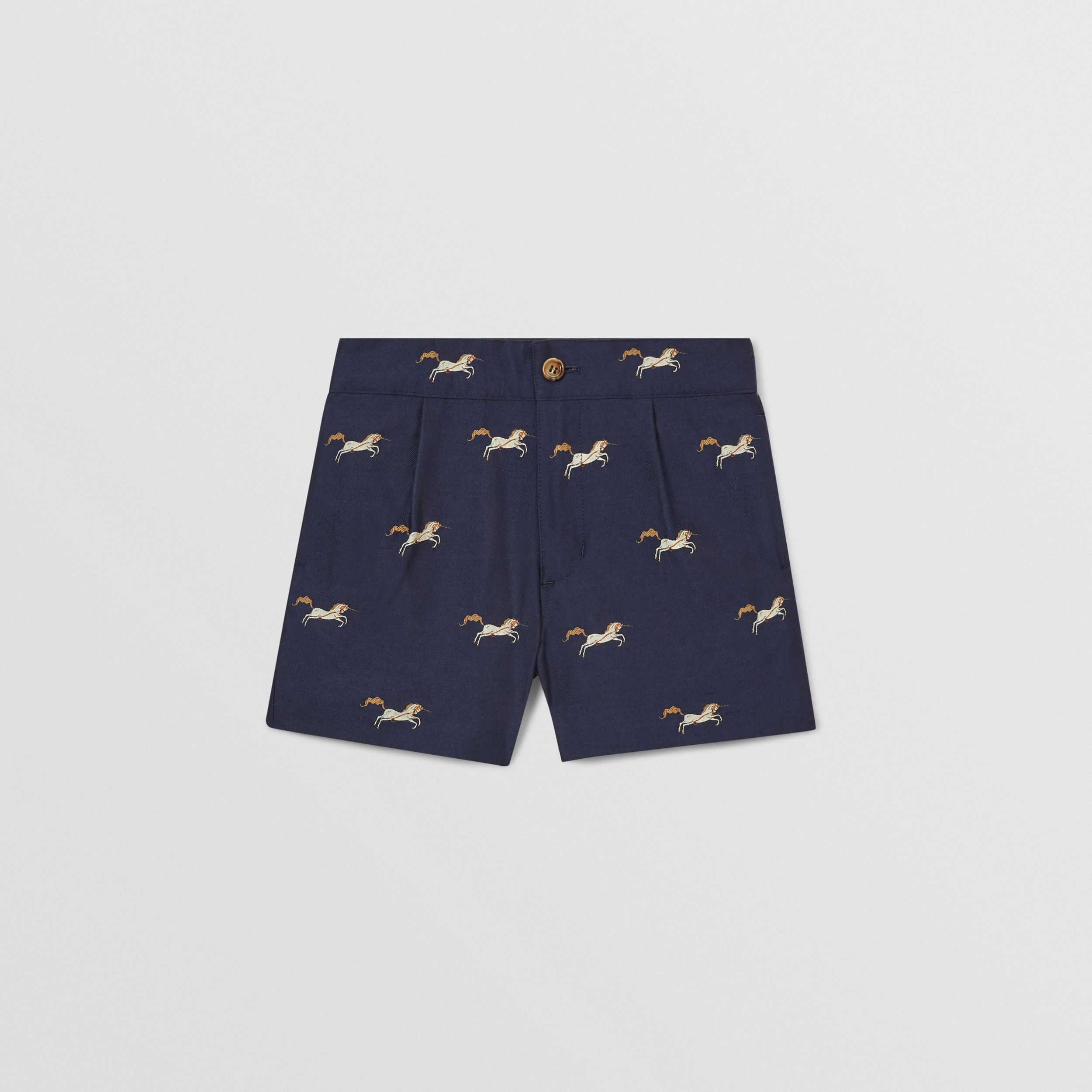 Unicorn Wool Silk Jacquard Shorts | Burberry - 1