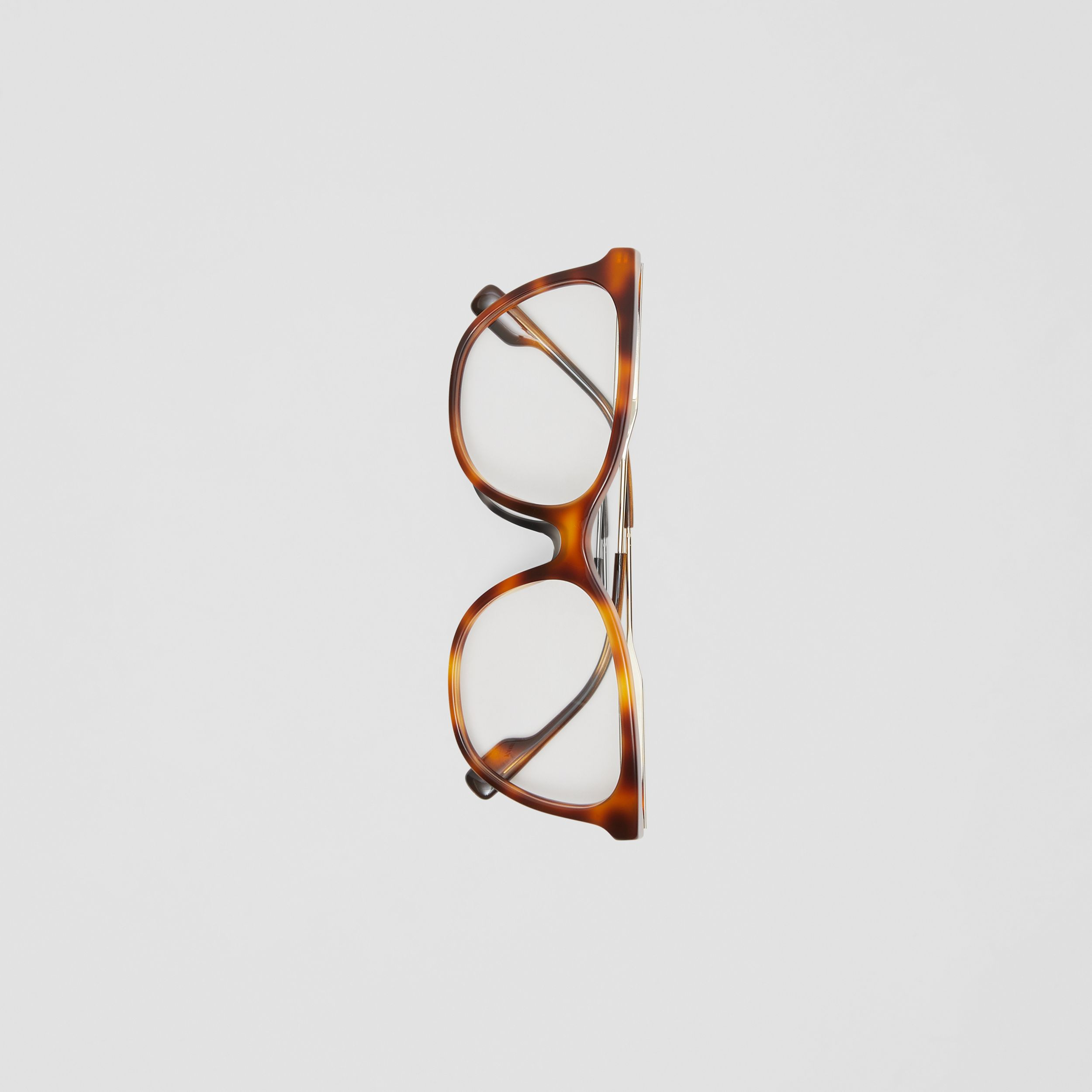 Cat-eye Optical Frames in Dark Amber Tortoiseshell - Women | Burberry - 4