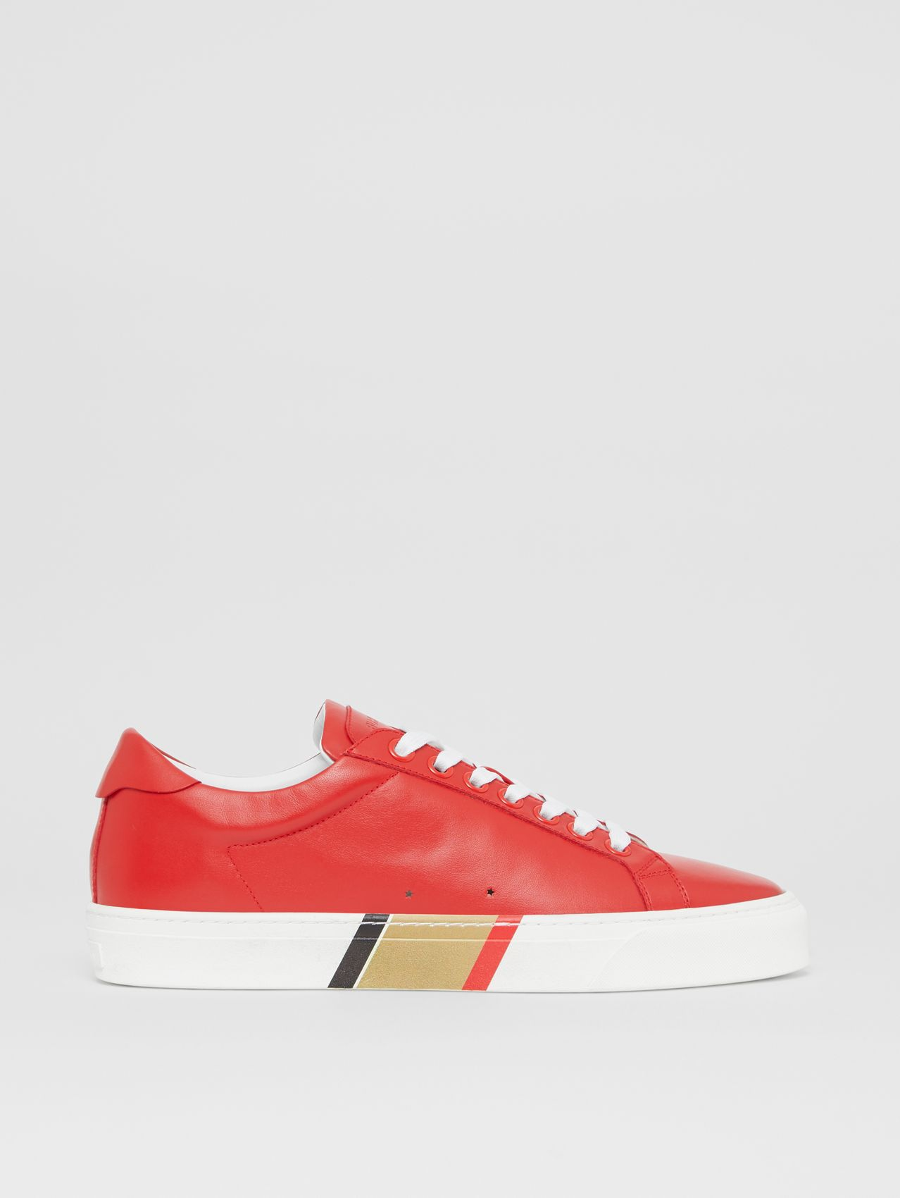 Bio-based Sole Leather Sneakers in Bright Red