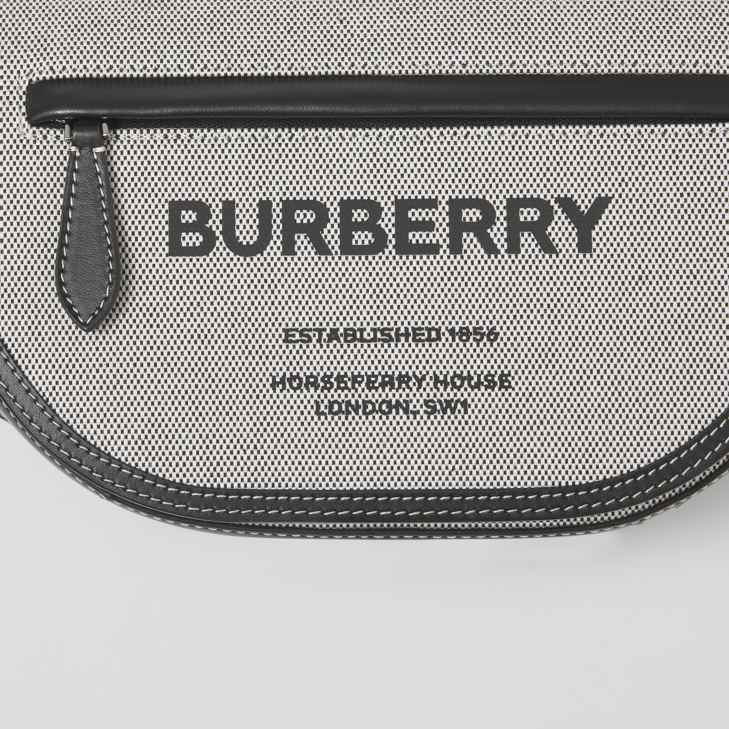 Small Horseferry Print Canvas Olympia Bum Bag in Black - Men | Burberry - 2