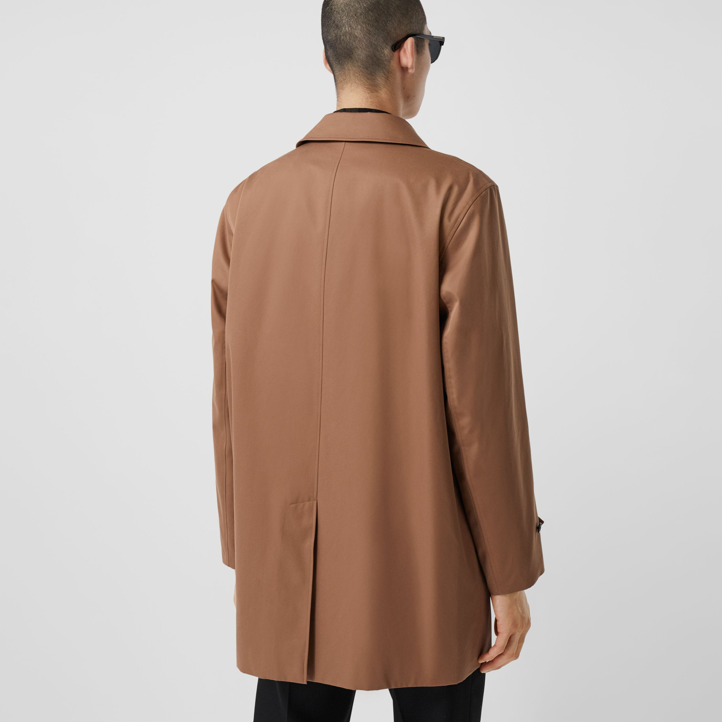 Organic Cotton Gabardine Car Coat in Dusty Caramel - Men | Burberry - 3