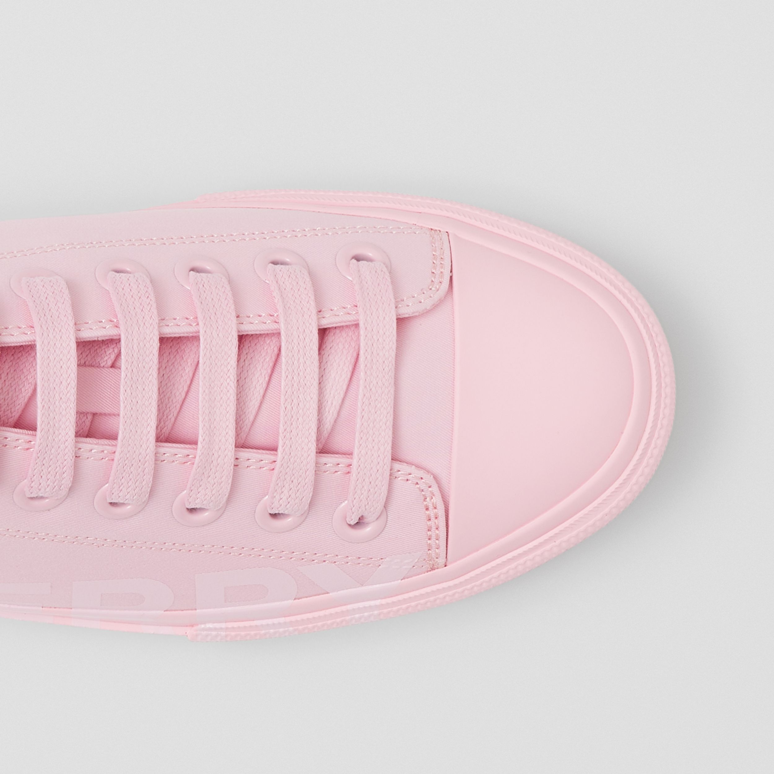 Logo Print Cotton Gabardine Sneakers in Orchid Pink - Women | Burberry Canada - 2