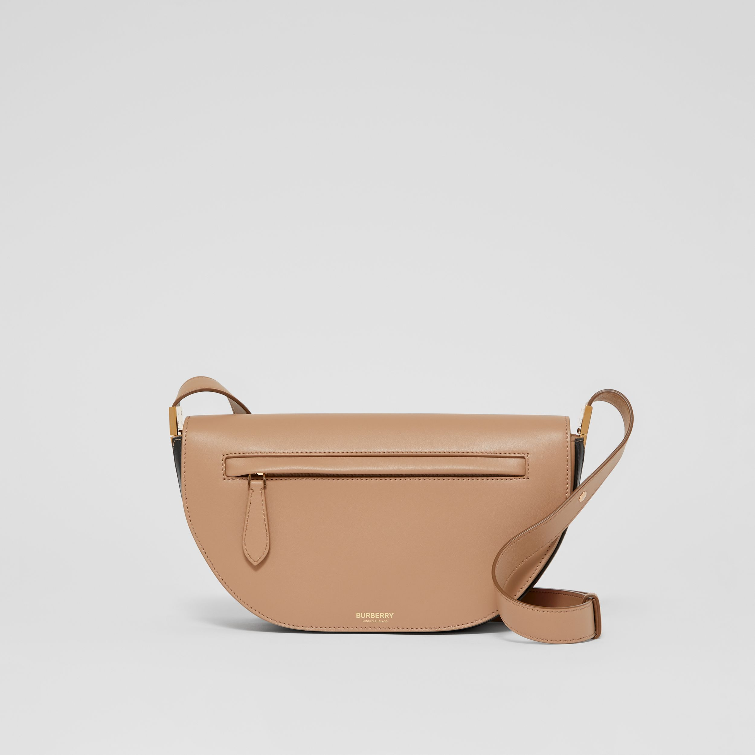 Small Leather Olympia Bag in Camel - Women | Burberry - 1