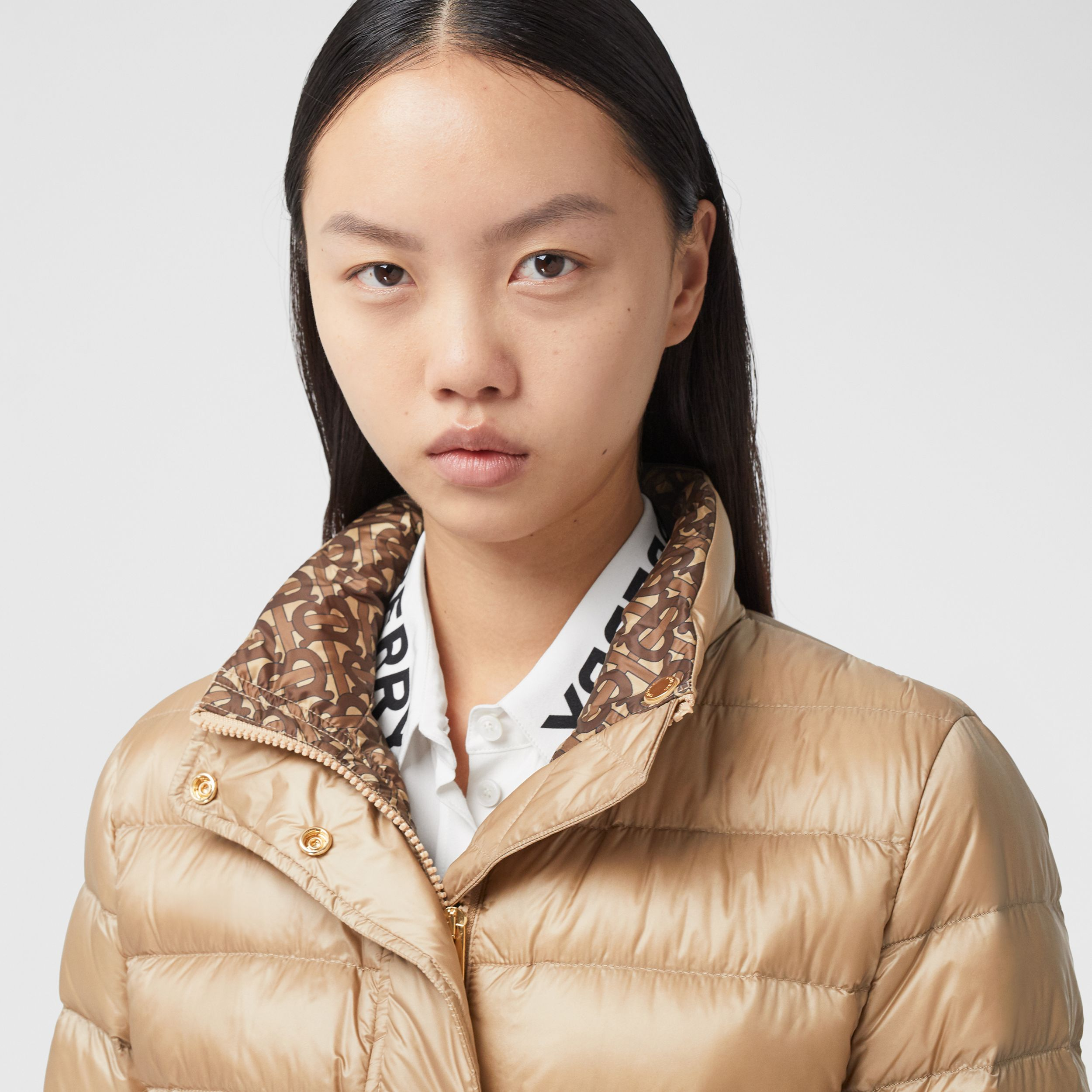 Monogram Print-lined Lightweight Puffer Jacket - Women | Burberry - 2