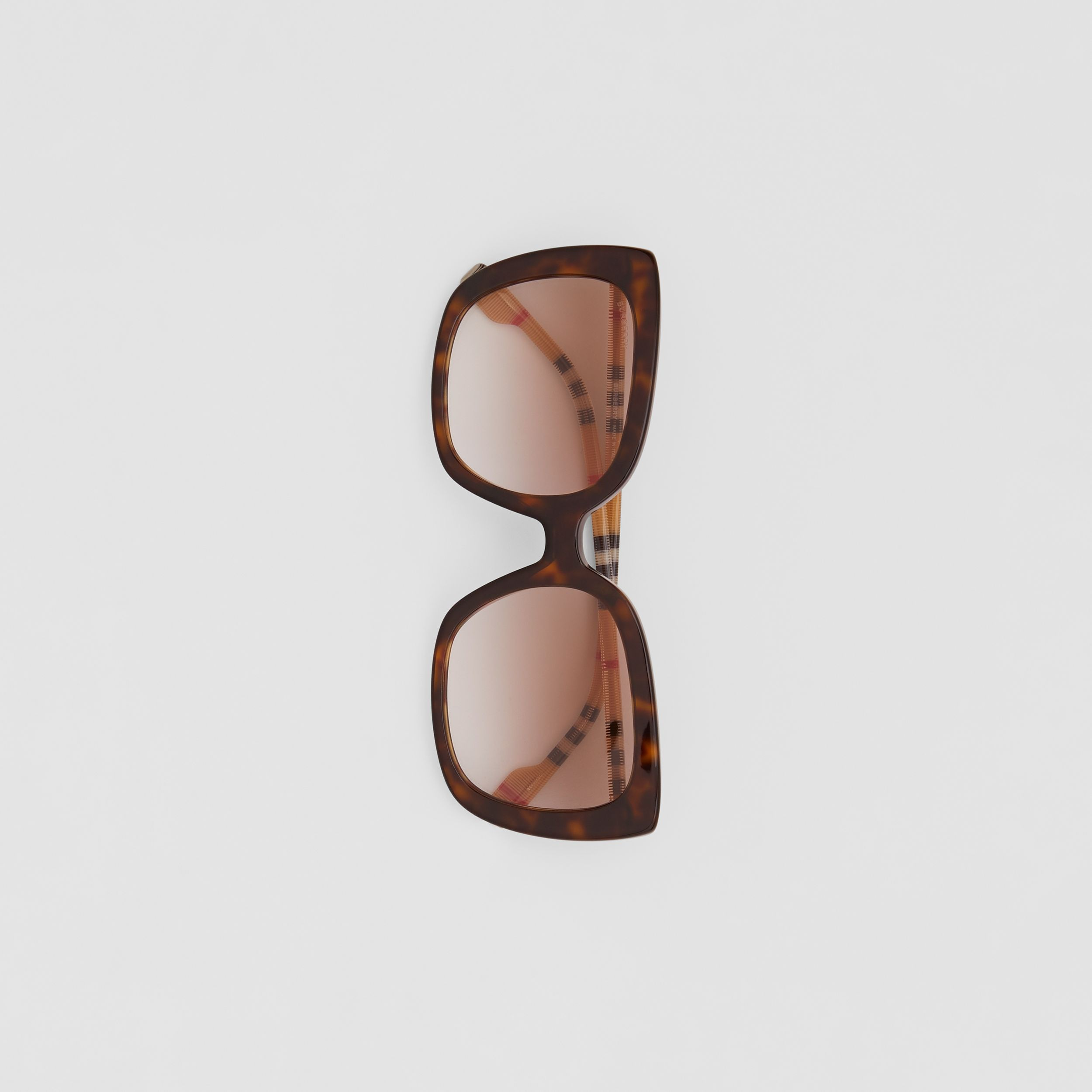 Oversized Square Frame Sunglasses in Tortoiseshell - Women | Burberry - 4