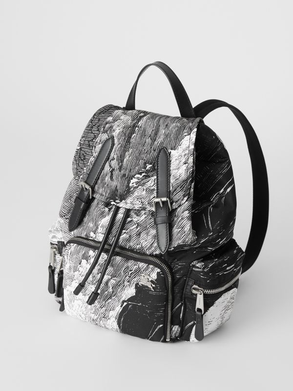 The Medium Rucksack in Dreamscape Print in Black - Women | Burberry United Kingdom - cell image 3