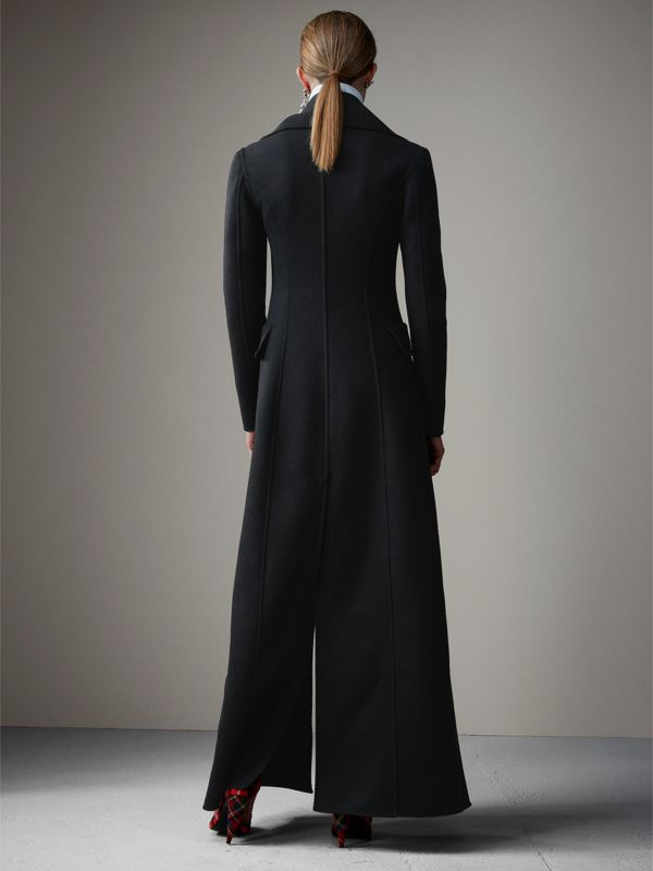 Felted Wool Full-length Tailored Coat in Black - Women | Burberry - cell image 2