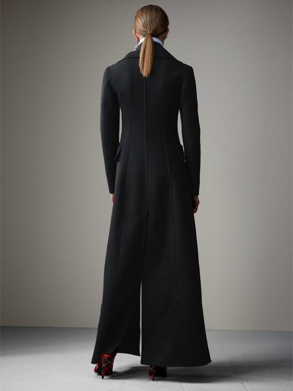 Abrigo de vestir largo en lana afieltrada (Negro) - Mujer | Burberry - cell image 2