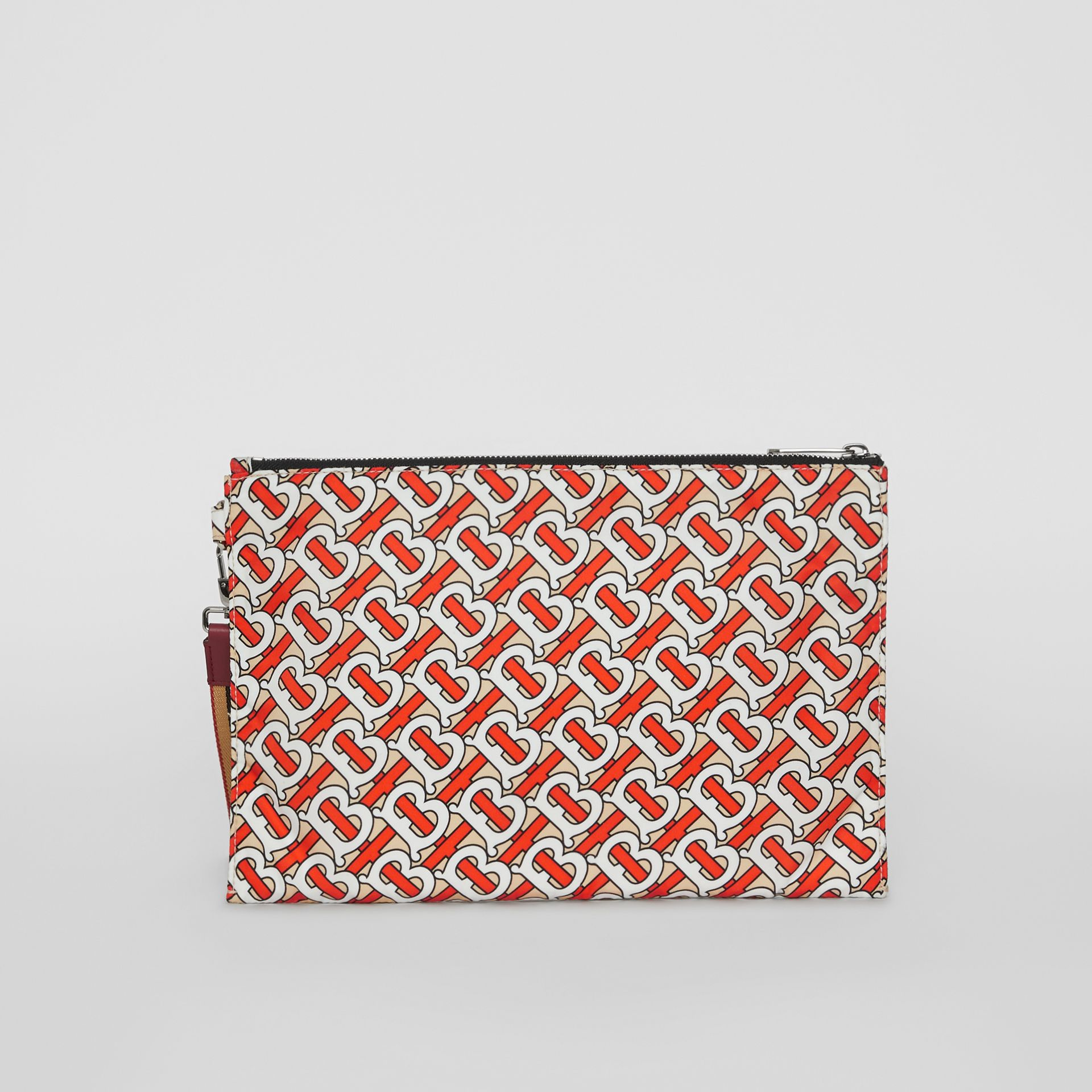 Monogram Print Zip Pouch in Vermilion | Burberry - gallery image 7