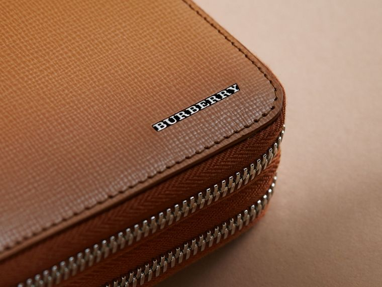 London Leather Travel Wallet in Tan - Men | Burberry Hong Kong - cell image 1