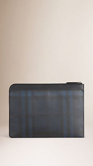 London Check Document Case