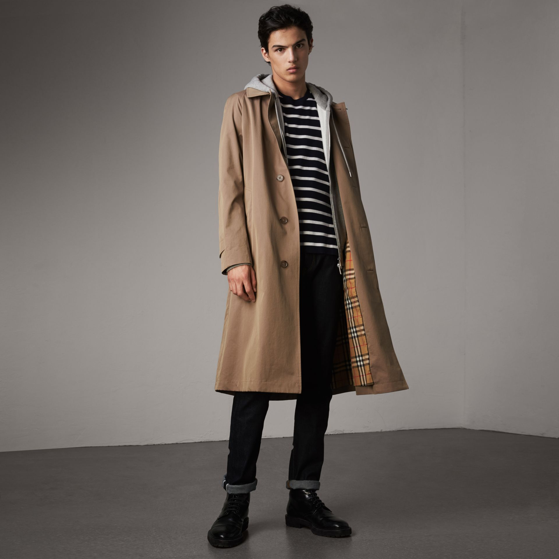 The Brighton Car Coat in Taupe Brown - Men | Burberry - gallery image 0