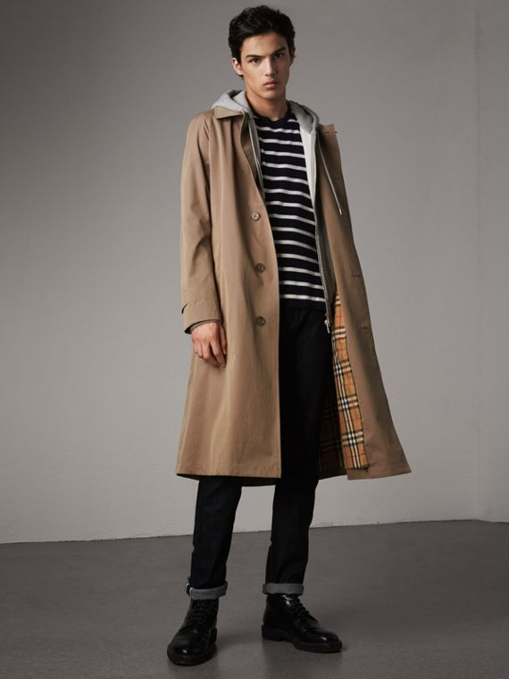 The Brighton – Extra-long Car Coat in Taupe Brown