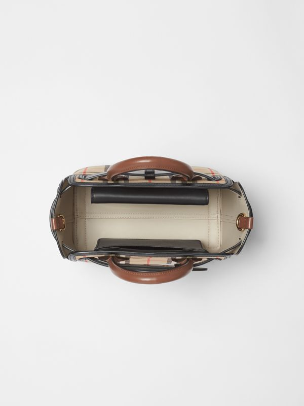 The Mini Vintage Check Triple Stud Belt Bag in Archive Beige - Women | Burberry United Kingdom - cell image 3