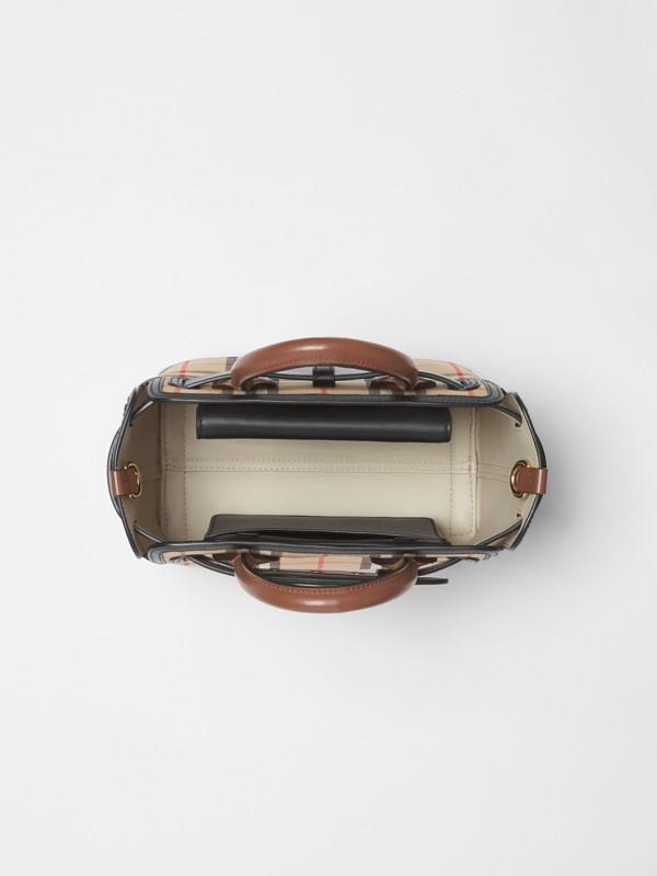 Mini sac TheBelt avec Vintage check à triple pression (Beige D'archive) - Femme | Burberry Canada - cell image 3