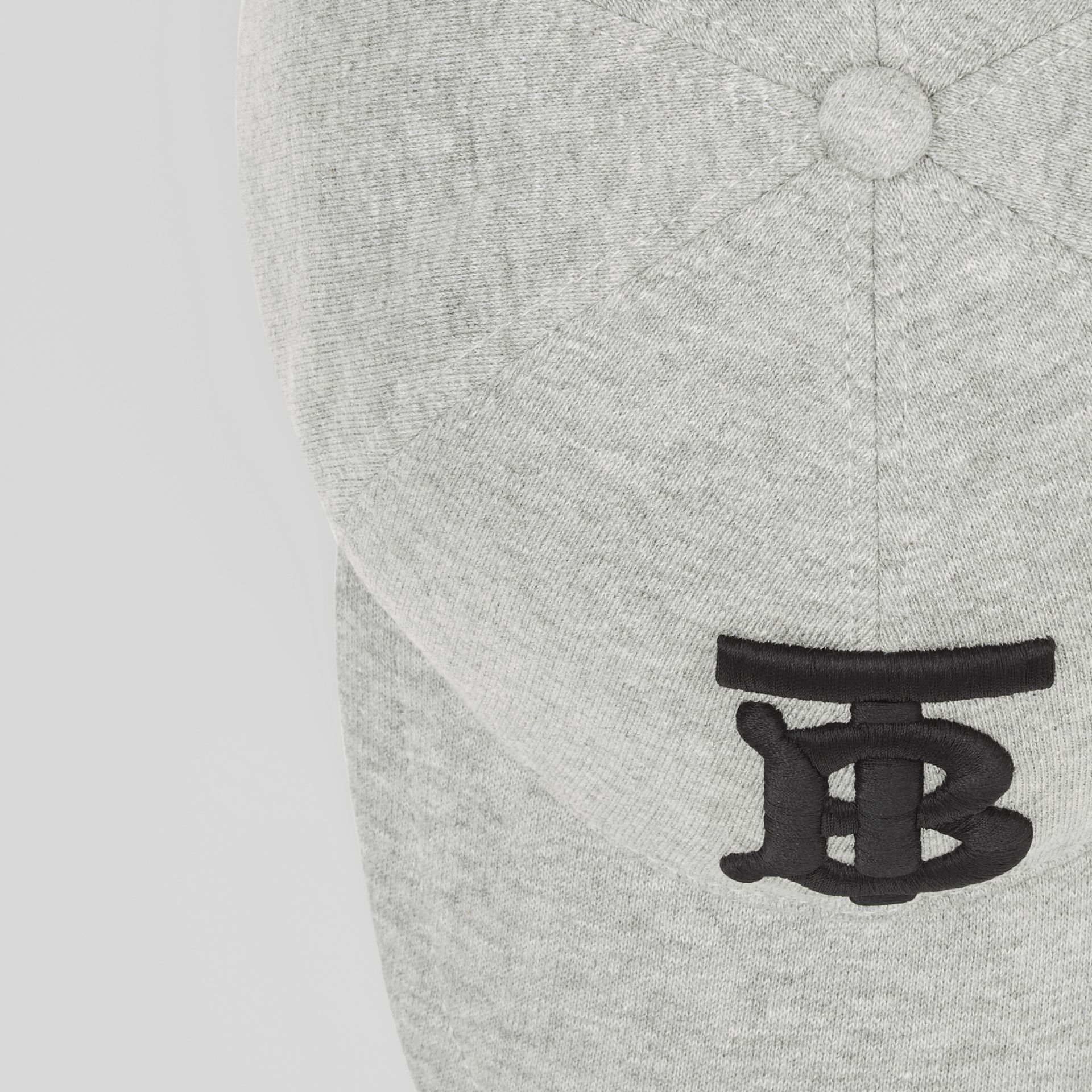 Monogram Motif Baseball Cap in Light Grey Melange | Burberry - gallery image 1