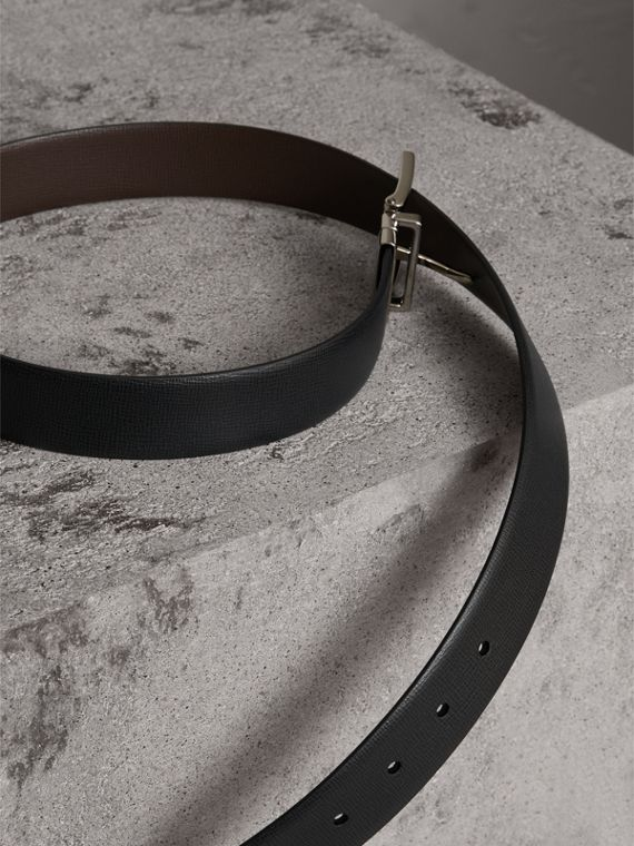 Reversible London Leather Belt in Black/chocolate - Men | Burberry Singapore - cell image 2