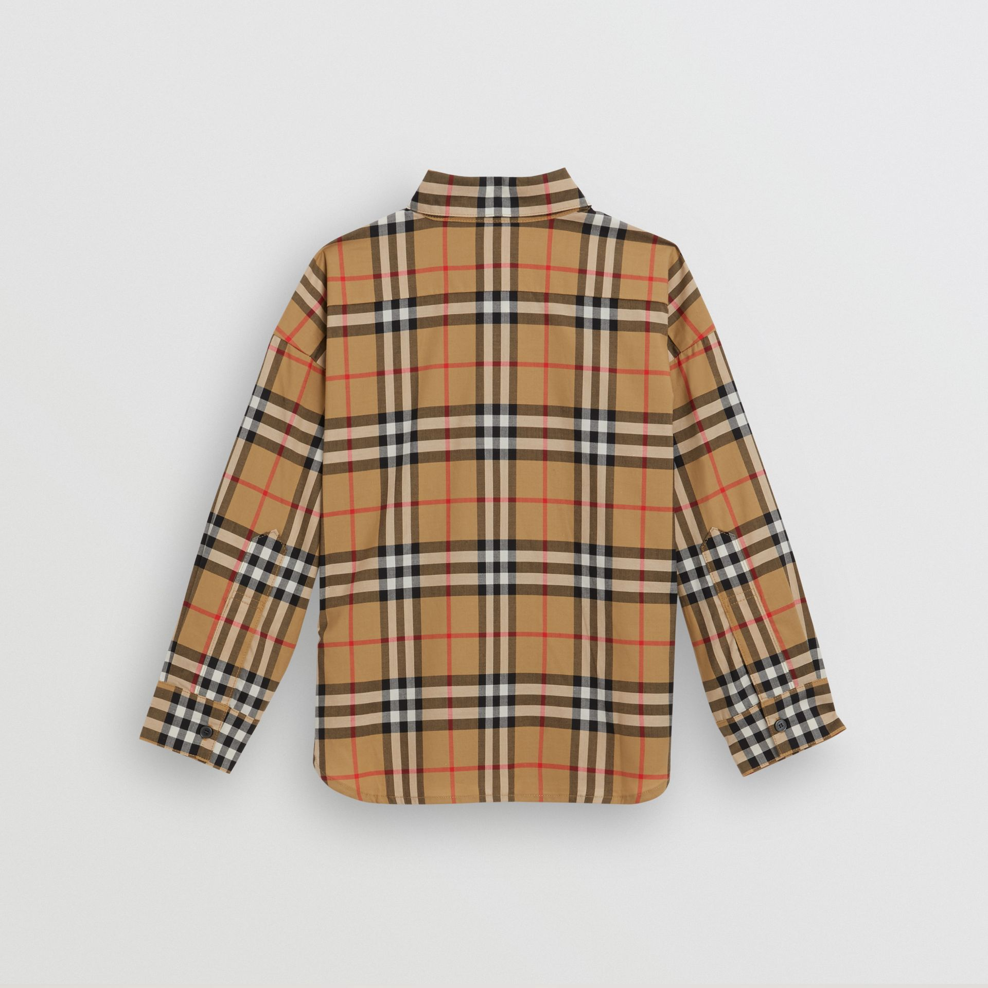 Vintage Check Cotton Shirt in Antique Yellow - Children | Burberry - gallery image 3