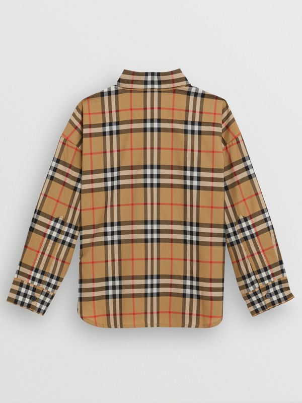 Vintage Check Cotton Shirt in Antique Yellow - Children | Burberry - cell image 3