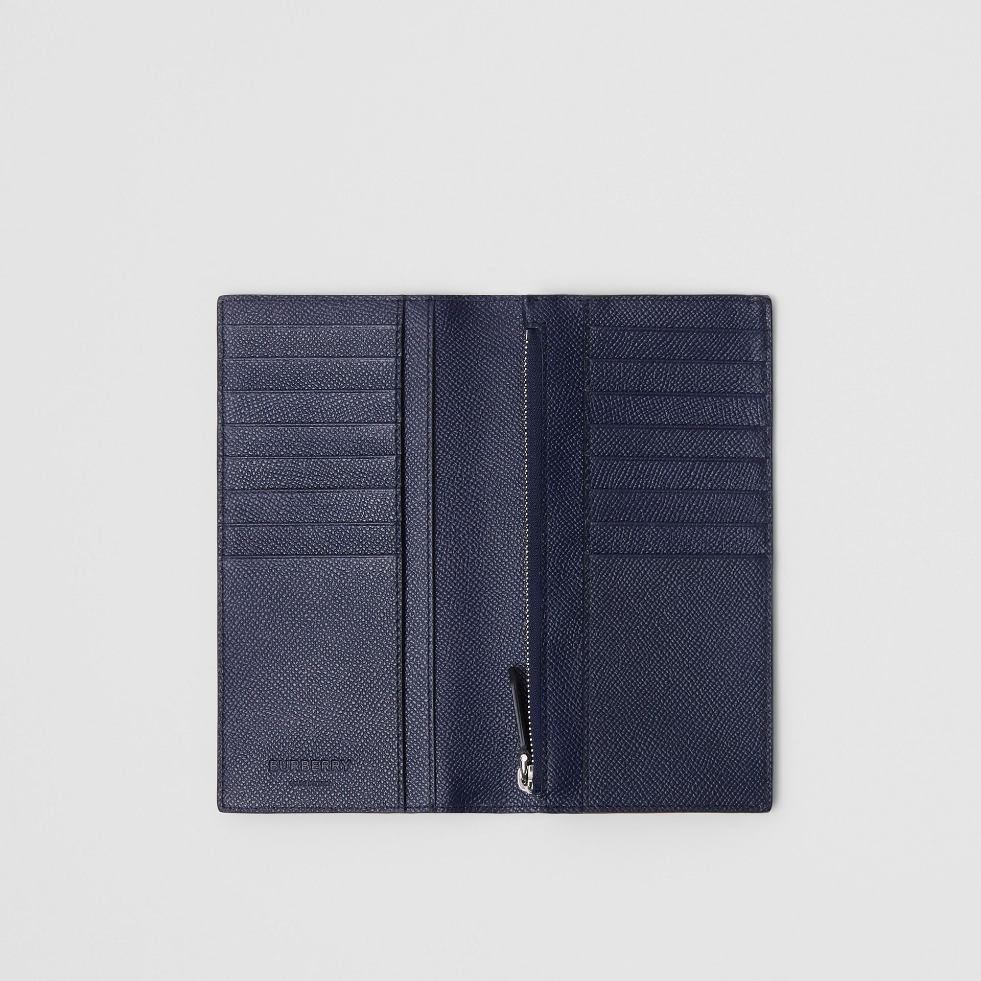 Grainy Leather Continental Wallet in Regency Blue - Men | Burberry United Kingdom - gallery image 2