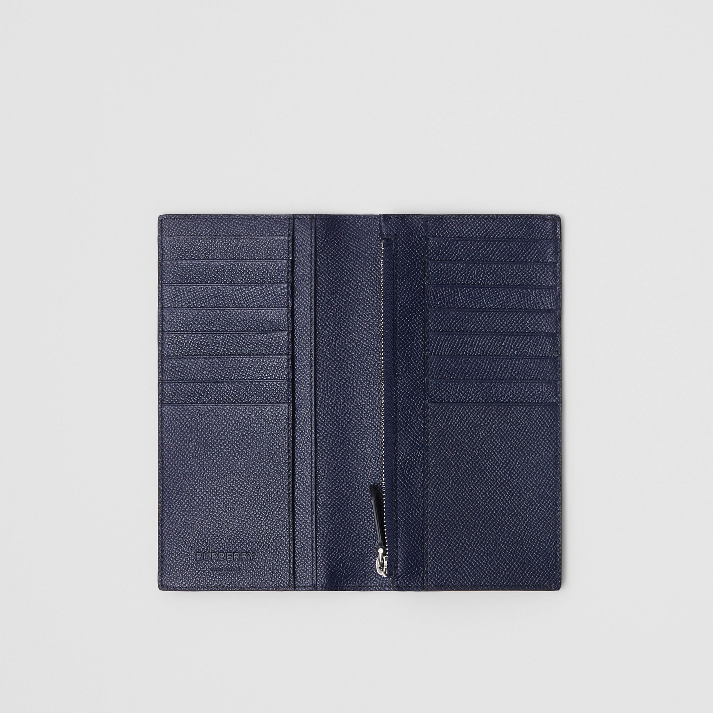 Grainy Leather Continental Wallet in Regency Blue - Men | Burberry - 3