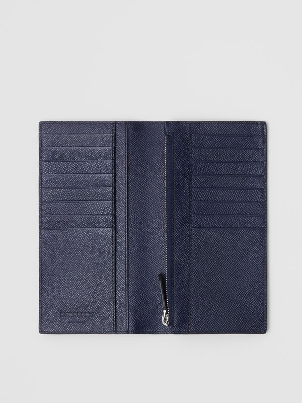 Grainy Leather Continental Wallet in Regency Blue - Men | Burberry - cell image 2