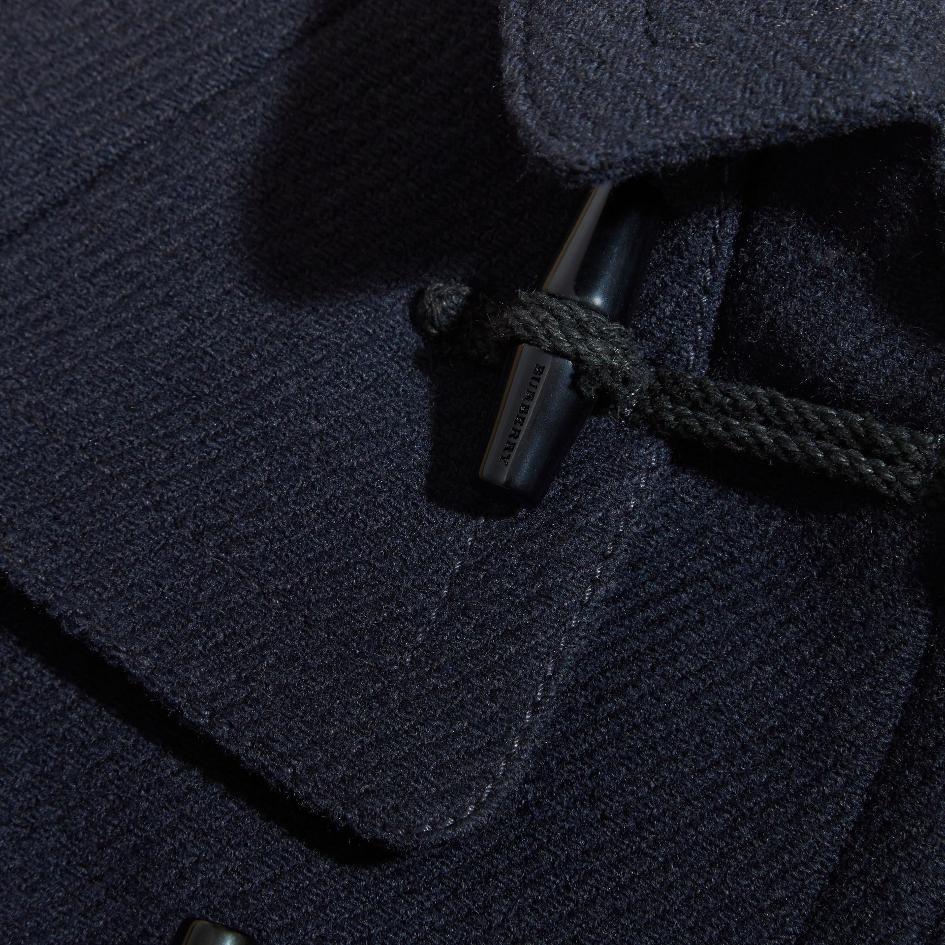 Navy Wool Cashmere Duffle Cape Coat - gallery image 2