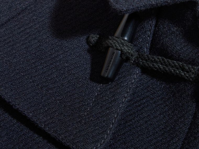 Navy Wool Cashmere Duffle Cape Coat - cell image 1