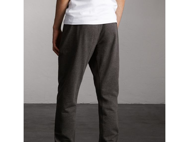 Cotton Sweatpants in Charcoal Melange - Men | Burberry - cell image 1
