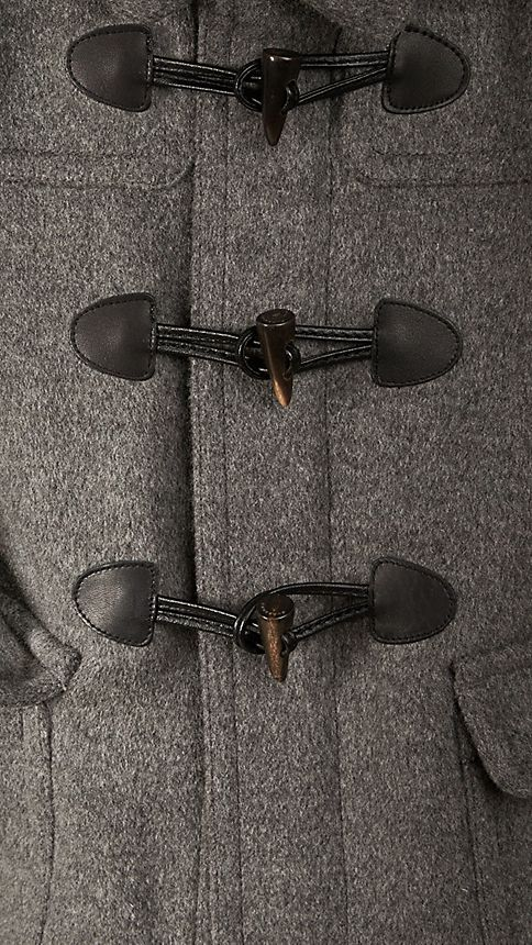 Gris moyen Duffle-coat en laine - Image 3