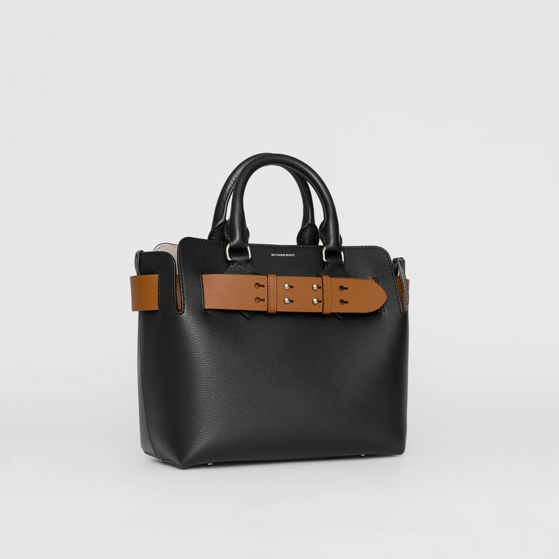 The Small Leather Belt Bag in Black - Women | Burberry Australia - gallery image 6